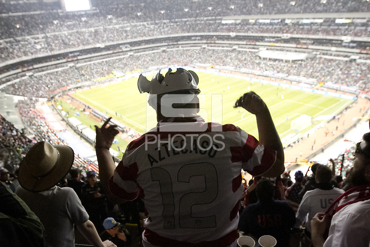 USA fan Rodas Omarlin cheers during the USA vs. Mexico World Cup Qualifier at Azteca stadium in Mexico City, Mexico on March 26, 2013.