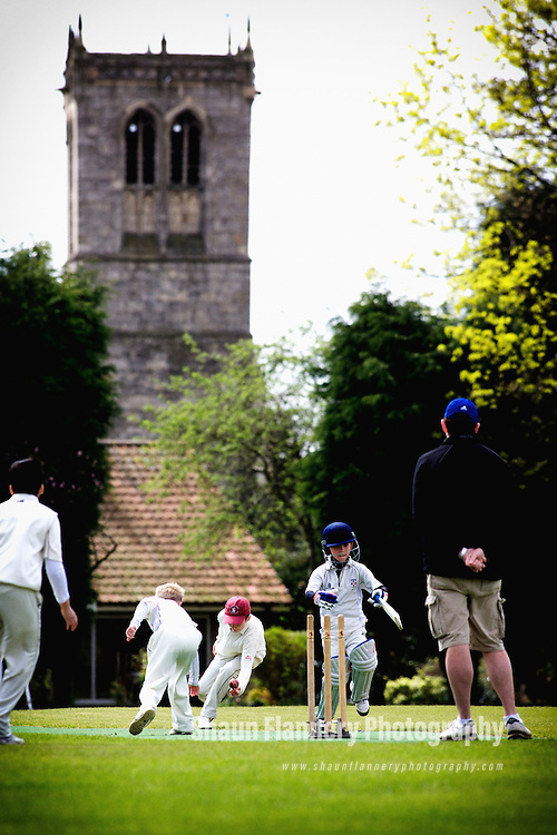 Pix: Shaun Flannery/shaunflanneryphotography.com...COPYRIGHT PICTURE>>SHAUN FLANNERY>01302-570814>>07778315553>>..28th April 2013..Cricket - Sprotbrough v Doncaster Town U11's..Sprotbrough Cricket Club...