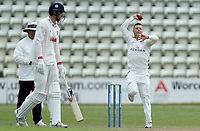 Jake Libby of Worcestershire in bowling action during Worcestershire CCC vs Essex CCC, LV Insurance County Championship Group 1 Cricket at New Road on 30th April 2021