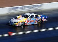 Apr 7, 2006; Las Vegas, NV, USA; NHRA Pro Stock champion Greg Anderson drives the Summit Racing Pontiac GTO during qualifying for the Summitracing.com Nationals at Las Vegas Motor Speedway in Las Vegas, NV. Mandatory Credit: Mark J. Rebilas