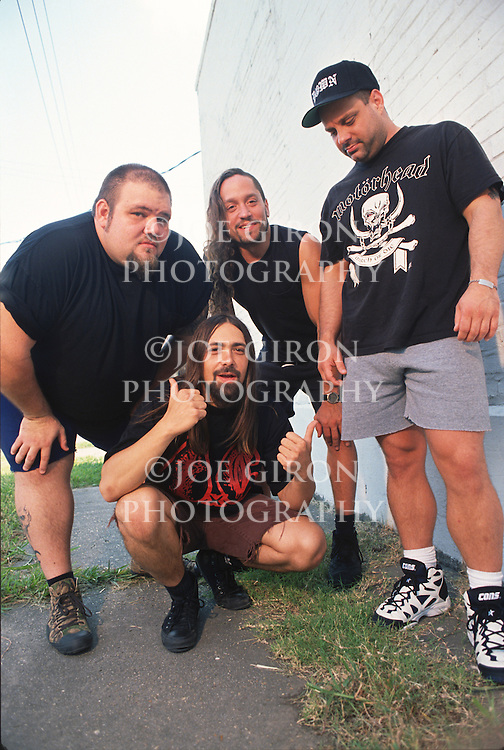 Various portrait sessions of the rock band, Crowbar