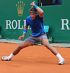 Rafael Nadal (ESP) defeats Teymoraz Gabashvili (RUS) at the Monte Carlo Rolex Masters tournament in Monte Carlo, Monaco on April 17, 2014.
