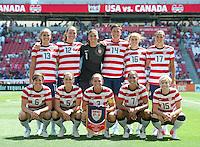Sandy, Utah - June 30, 2012: USA Women's National Team vs Canada at Rio Tinto Stadium.