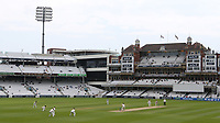 General view of The Oval looking towards the Micky Stewart Members' Pavilion during Surrey CCC vs Somerset CCC, LV Insurance County Championship Group 2 Cricket at the Kia Oval on 13th July 2021