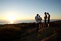 Ben Player, Shaggy, Spencer Skipper and Mitch Rawlins watching supertube in Yallingup, Western Australia.