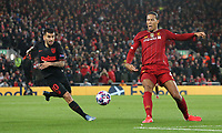 Atletico Madrid's Angel Correa vies for possession with Liverpool's Virgil van Dijk <br /> <br /> Photographer Rich Linley/CameraSport<br /> <br /> UEFA Champions League Round of 16 Second Leg - Liverpool v Atletico Madrid - Wednesday 11th March 2020 - Anfield - Liverpool<br />  <br /> World Copyright © 2020 CameraSport. All rights reserved. 43 Linden Ave. Countesthorpe. Leicester. England. LE8 5PG - Tel: +44 (0) 116 277 4147 - admin@camerasport.com - www.camerasport.com