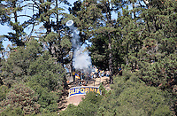 The Canon fires after the touchdown. The California Golden Bears defeated the UCLA Bruins 35-7 at Memorial Stadium in Berkeley, California on October 9th, 2010.