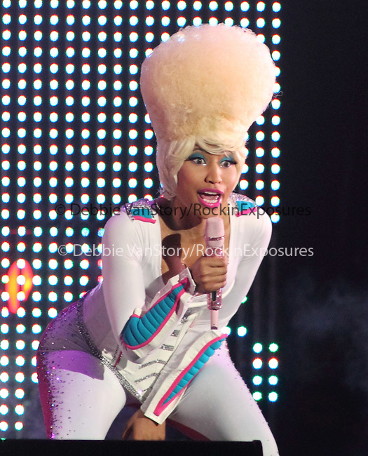 Nicki Minaj opens for Lil' Wayne on his I'm Still Music Tour 2011 at the 1st Mariner Arena in Baltimore, Md March 20, 2011. .Copyright EML/Rockinexposures.com.