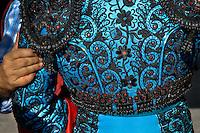 A detail of a Spanish matador's jacket (Traje de luces) at the bullring in Fuengirola, Spain, 28 April 2007.