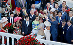 LOUISVILLE, KY - MAY 06: The Always Dreaming connections celebrate after winning the Kentucky Derby on Kentucky Derby Day at Churchill Downs on May 6, 2017 in Louisville, Kentucky. (Photo by Jon Durr/Eclipse Sportswire/Getty Images)