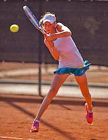 Netherlands, Rotterdam August 07, 2015, Tennis,  National Junior Championships, NJK, TV Victoria,  Julie Belgraver<br /> Photo: Tennisimages/Henk Koster