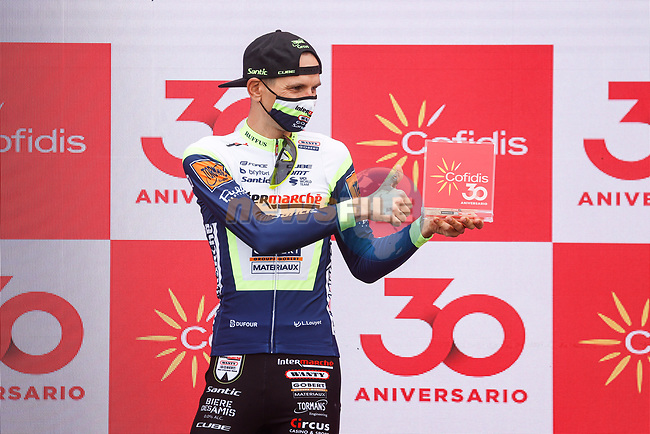 Rein Taaramäe (EST) Intermarché-Wanty-Gobert Matériaux from the breakaway wins Stage 3 of La Vuelta d'Espana 2021, running 202.8km from Santo Domingo de Silos to Picon Blanco, Spain. 16th August 2021.    <br /> Picture: Luis Angel Gomez/Photogomezsport   Cyclefile<br /> <br /> All photos usage must carry mandatory copyright credit (© Cyclefile   Luis Angel Gomez/Photogomezsport)