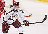 Ryan Fitzgerald (BC - 19) - The Boston College Eagles defeated the visiting University of Wisconsin Badgers 9-2 on Friday, October 18, 2013, at Kelley Rink in Conte Forum in Chestnut Hill, Massachusetts.