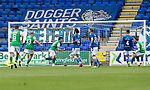 St Johnstone v Hibs……23.08.20   McDiarmid Park  SPFL<br />Stevie Mallan celebrates his penalty <br />Picture by Graeme Hart.<br />Copyright Perthshire Picture Agency<br />Tel: 01738 623350  Mobile: 07990 594431