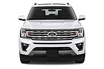 Car photography straight front view of a 2020 Ford Expedition Limited-MAX 5 Door SUV Front View
