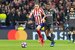 MADRID, SPAIN - FEBRUARY 18: Georginio Wijnaldum of Liverpool and Saul Niguez of Atletico de Madrid in action during the UEFA Champions League football match, round 16, played between Atletico de Madrid and Liverpool FC at Wanda Metropolitano stadium on February 18, 2020 in Madrid, Spain.<br /> (ALTERPHOTOS/David Jar)