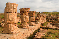 Apollonia, Susa, Libya -- Roman Baths, capitols date from 138 A.D.