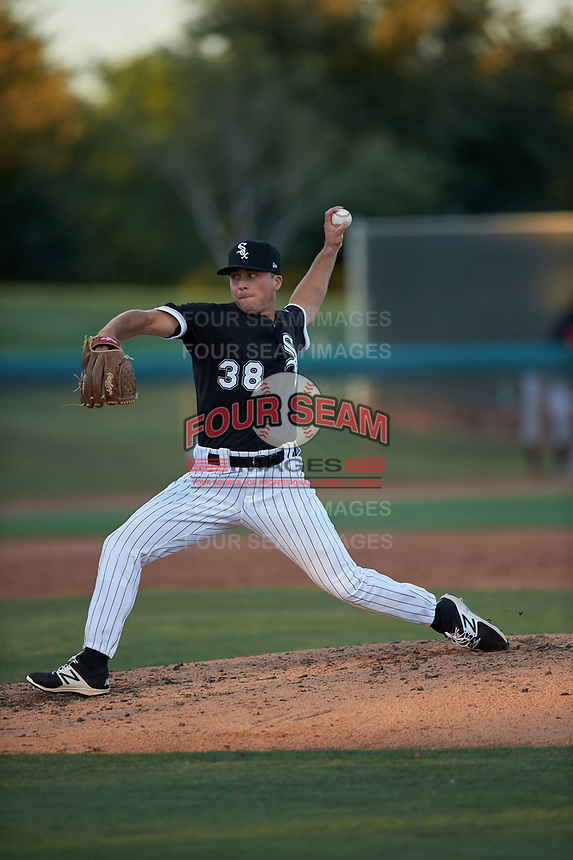AZL White Sox relief pitcher Jacob Lindgren (38) during an Arizona League game against the AZL Indians Blue on July 2, 2019 at Camelback Ranch in Glendale, Arizona. The AZL Indians Blue defeated the AZL White Sox 10-8. (Zachary Lucy/Four Seam Images)