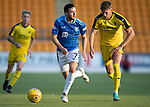 St Johnstone v Falkirk…24.07.18…  McDiarmid Park    Betfred Cup<br />Drey Wright takes on Pat Brough<br />Picture by Graeme Hart. <br />Copyright Perthshire Picture Agency<br />Tel: 01738 623350  Mobile: 07990 594431
