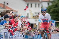 up Salmon Hill<br /> <br /> Men Elite Road Race<br /> <br /> UCI 2017 Road World Championships - Bergen/Norway