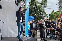"""Wahlkampfauftaktveranstaltung der rechten """"Alternative fuer Deutschland"""", AfD, in Brandenburg am Samstag den 13. Juli 2019 im brandenburgischen Cottbus zur Landtagswahl am 1. September mit dem brandenburger Landesvorsitzenden Andreas Kalbitz, dem saechsichen Landesvorsitzenden Joerg Urban, Thueringens AfD-Chef Bjoern Hoecke und dem Parteivorsitzenden Joerg Meuthen. Die drei Landesvorsitzenden sind Anhaenger der rechtsextremen AfD-Gruppierung """"Fluegel"""" um Bjoern Hoecke, die vom Verfassungsschutz geprueft wird.<br /> Im Bild: Thueringens AfD-Chef Bjoern Hoecke.<br /> 13.7.2019, Berlin<br /> Copyright: Christian-Ditsch.de<br /> [Inhaltsveraendernde Manipulation des Fotos nur nach ausdruecklicher Genehmigung des Fotografen. Vereinbarungen ueber Abtretung von Persoenlichkeitsrechten/Model Release der abgebildeten Person/Personen liegen nicht vor. NO MODEL RELEASE! Nur fuer Redaktionelle Zwecke. Don't publish without copyright Christian-Ditsch.de, Veroeffentlichung nur mit Fotografennennung, sowie gegen Honorar, MwSt. und Beleg. Konto: I N G - D i B a, IBAN DE58500105175400192269, BIC INGDDEFFXXX, Kontakt: post@christian-ditsch.de<br /> Bei der Bearbeitung der Dateiinformationen darf die Urheberkennzeichnung in den EXIF- und  IPTC-Daten nicht entfernt werden, diese sind in digitalen Medien nach §95c UrhG rechtlich geschuetzt. Der Urhebervermerk wird gemaess §13 UrhG verlangt.]"""