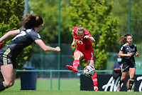Aster Janssens (5) of Standard gives a pass during a female soccer game between Standard Femina de Liege and Oud Heverlee Leuven on the 10th and last matchday in play off 1 of the 2020 - 2021 season of Belgian Scooore Womens Super League , saturday 29 th of May 2021  in Angleur , Belgium . PHOTO SPORTPIX.BE   SPP   SEVIL OKTEM