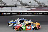 #9: Chase Elliott, Hendrick Motorsports, Chevrolet Camaro NAPA Auto Parts, #18: Kyle Busch, Joe Gibbs Racing, Toyota Camry M&M's Summering