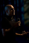 Ashok Sinha - Director, Stop Climate Chaos speaks at Powershift UK. (©Robert vanWaarden)