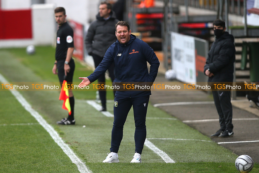 Yeovil Town manager Darren Sarll during Dagenham & Redbridge vs Yeovil Town, Vanarama National League Football at the Chigwell Construction Stadium on 17th October 2020