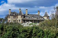 Magnificent private home estate along Ocean Drive, Newport, Rhode Island, USA.