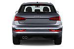 Straight rear view of a 2018 Audi Q3 Premium 5 Door SUV stock images