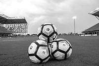 Edinburg, TX - Thursday September 28, 2017: Balls B&W during a regular season National Women's Soccer League (NWSL) match between the Houston Dash and the North Carolina Courage at H-E-B Park.