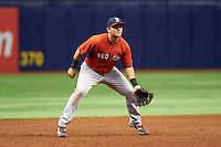 Boston Red Sox third baseman Michael Chavis (3) during an instructional league game against the Tampa Bay Rays on September 24, 2015 at Tropicana Field in St Petersburg, Florida.  (Mike Janes/Four Seam Images)