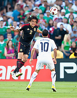 PASADENA, CA – June 25, 2011: Mexican player Hector Reynoso (2)  during the Gold Cup Final match between USA and Mexico at the Rose Bowl in Pasadena, California. Final score USA 2 and Mexico 4.