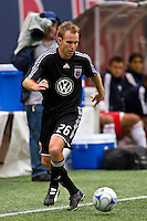 D. C. United defender Bryan Namoff (26). The New York Red Bulls defeated D. C. United 4-1 during a Major League Soccer match at Giants Stadium in East Rutherford, NJ, on August 10, 2008.