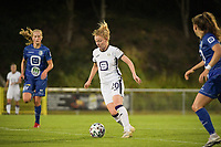 Michelle Colson (2) of Anderlecht pictured during a female soccer game between RSC Anderlecht Dames and AA Gent Ladies  on the fourth matchday of the 2021 - 2022 season of Belgian Womens Super League , friday 10 th of September 2021 in Overijse , Belgium . PHOTO SPORTPIX | DIRK VUYLSTEKE