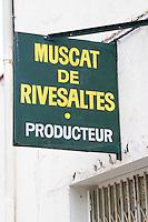 Muscat de Rivesaltes. Rivesaltes town, Roussillon, France