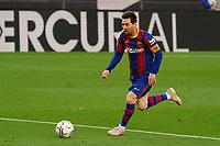 29th April 2021; Camp Nou, Barcelona, Catalonia, Spain; La Liga Football, Barcelona versus Granada; Leo Messi FC Barcelona breaks clear into the Granada area