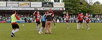 FC Izegem - RC Mechelen :<br /> <br /> een uitzinnige Franky Dekenne rent het veld op naar zijn spelers bij de 2-2<br /> <br /> foto VDB / BART VANDENBROUCKE