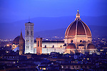The night view of Santa Maria del Fiore Cathedral aka Dome. Florence.