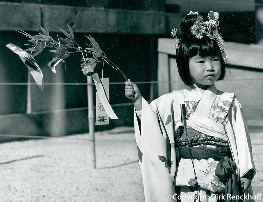 fünfjäriges Mädchen beim Fest der 3, 5 und Siebenjährigen Shiji-Go-San am 15.November in Japan