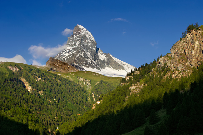 The Matterhorn or Monte Cervino mountain peak, Zermatt, Switzerland