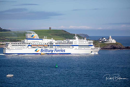 Pont Aven passes Roches Point in July 2021 Photo: Bob Bateman