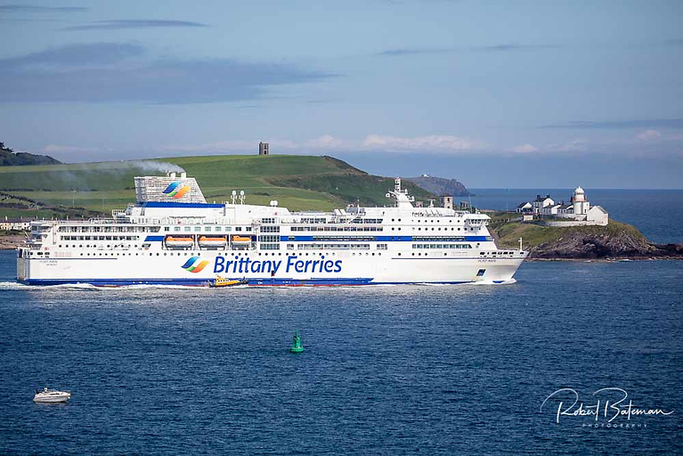 Brittany Ferries departs Cork Harbour