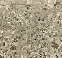 historical aerial photograph of Garden Grove, Orange County, California, 1963