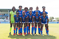 Bradenton, FL - Friday, June 08, 2018: Haiti Starting XI during a U-17 Women's Championship match between Mexico and Haiti at IMG Academy.