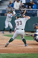 August 6, 2010: Boise Hawks' Micah Gibbs (#33) at-bat during a Northwest League game against the Everett AquaSox at Everett Memorial Stadium in Everett, Washington.