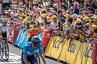 Belgian Champion Yves Lampaert (BEL/Quick Step Floors) happy with the win of his teammate Fernando Gaviria (COL/Quick Step Floors)<br /> <br /> Stage 1: Noirmoutier-en-l'Île > Fontenay-le-Comte (189km)<br /> <br /> Le Grand Départ 2018<br /> 105th Tour de France 2018<br /> ©kramon