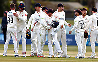 Lancashire players celebrate their victory over Kent during Kent CCC vs Lancashire CCC, LV Insurance County Championship Group 3 Cricket at The Spitfire Ground on 25th April 2021