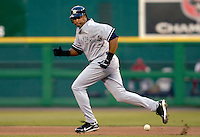 16 June 2006: Bernie Williams, outfielder for the New York Yankees, in action against the Washington Nationals at RFK Stadium, in Washington, DC. The Yankees defeated the Nationals 7-5 in the first meeting of the two franchises...Mandatory Photo Credit: Ed Wolfstein Photo...